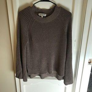 Light brown bell sleeve sweater